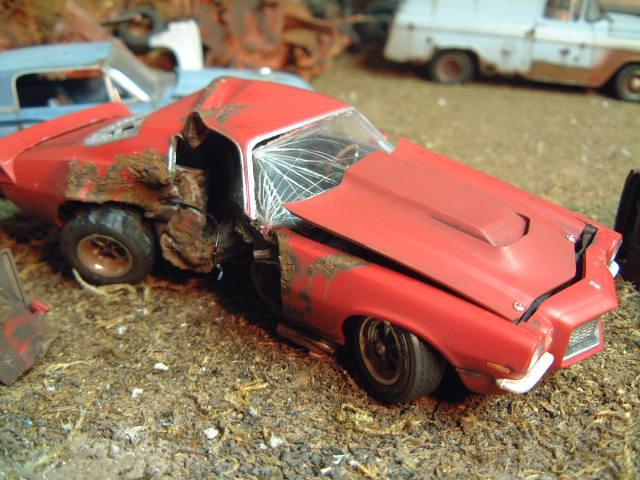 T Boned 70 Camaro Built Wreck Chevy Wrecks ⋆ 125scale