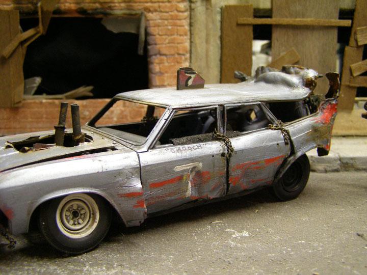 1966 Chevelle Wagon Demolition Derby Car