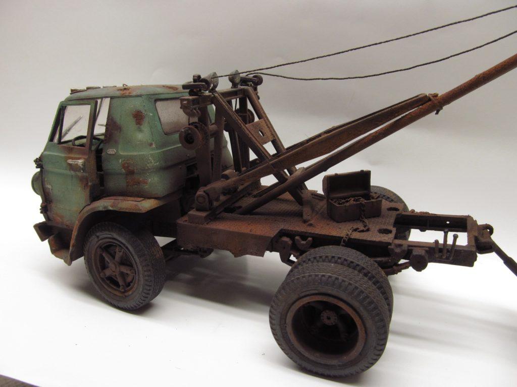 1978 Ford Truck >> Weathered Model Cars, Dodge Wrecker Junkyard 1/25 scale