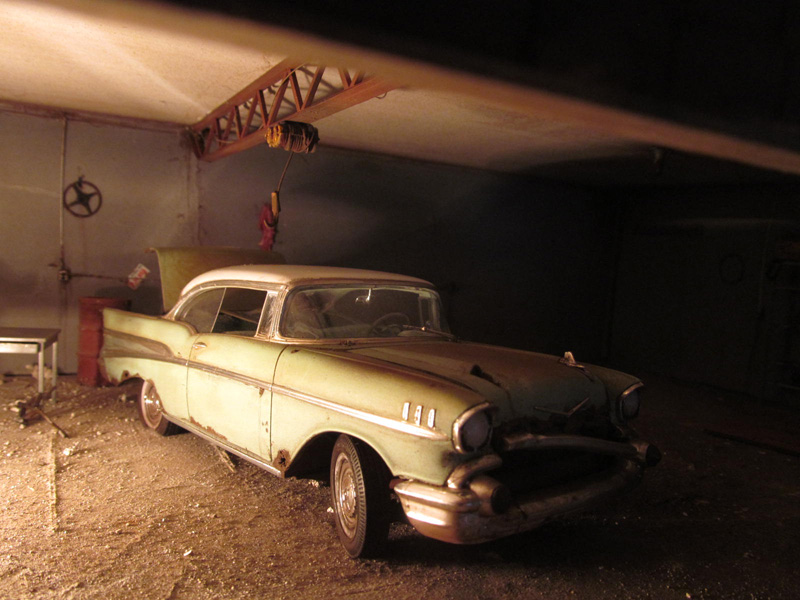 1957 Chevy Barn Find Indoors